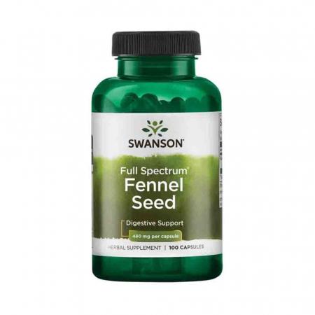 Full Spectrum Fennel Seed (Semințe de Fenicul) 480mg, Swanson, 100 capsule SW976