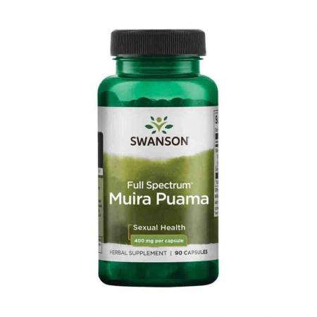 Full Spectrum Muira Puama Root, 400mg, Swanson, 90 capsule SW1133