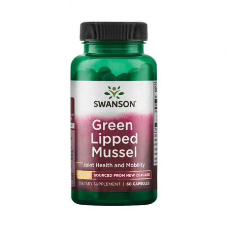 Green Lipped Mussel (Extract Scoica Cochilie Verde), 500mg, Swanson, 60 capsule SW1434
