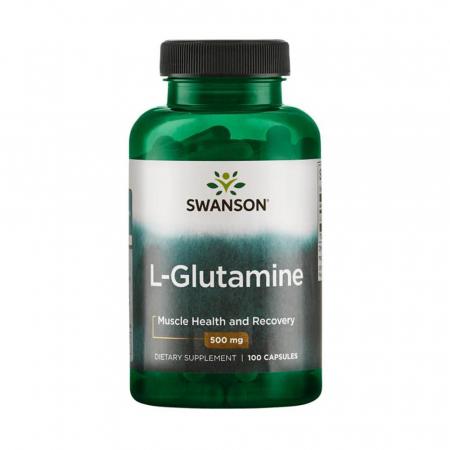 L-Glutamine, 500mg, Swanson, 100 capsule SW826