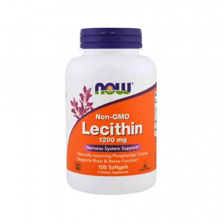 Lecitina (Lecithin) 1200mg, Now Foods, 100 softgels [0]