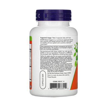 Mood Support with St. John's Wort, Now Foods, 90 capsule [1]