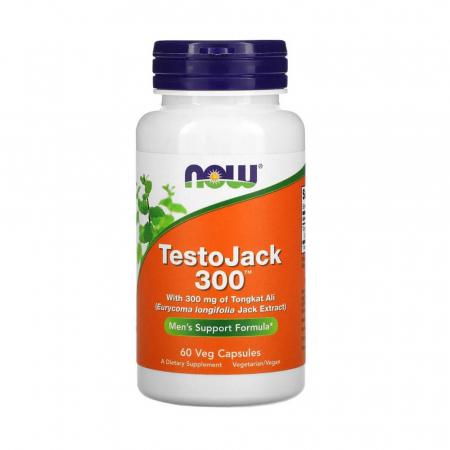 TestoJack 300 (Tongkat Ali), Now Foods, 60 capsule