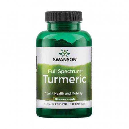 Turmeric (Curcuma Longa), 720mg, Swanson, 100 capsule SW940
