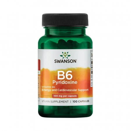 Vitamin B-6 (Pyridoxine), 100mg, Swanson, 100 capsule SW021