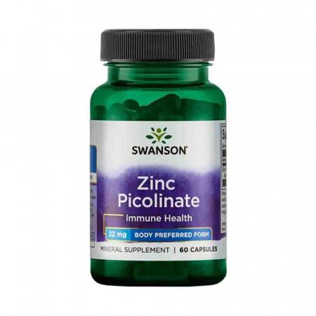 Zinc Picolinate Body Preferred Form, 22mg, Swanson, 60 capsule SW1113, Fara aroma, 1 Cutie, 09.2023