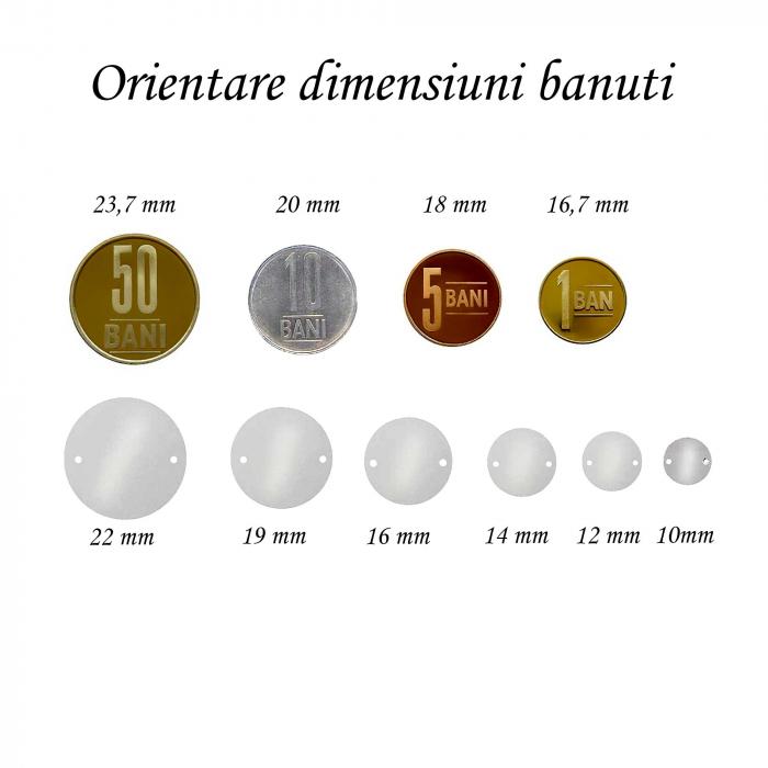 Bratara personalizata cu snur din matase si banut de 16,5 mm din argint 925 placat cu aur [4]