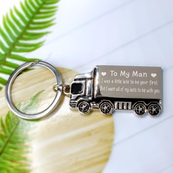 "Breloc in forma de camion personalizat ""To my man"" [0]"