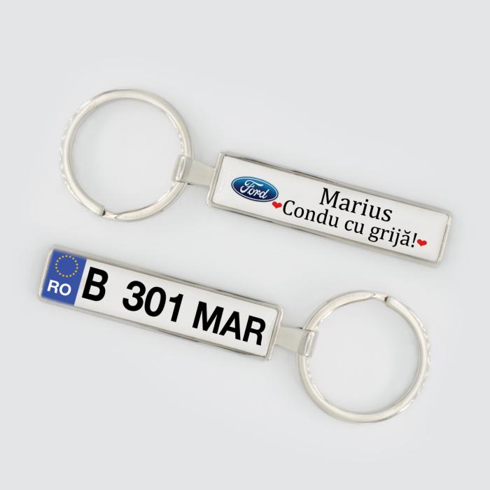 """Breloc auto personalizat """"Condu cu grija"""" [2]"""