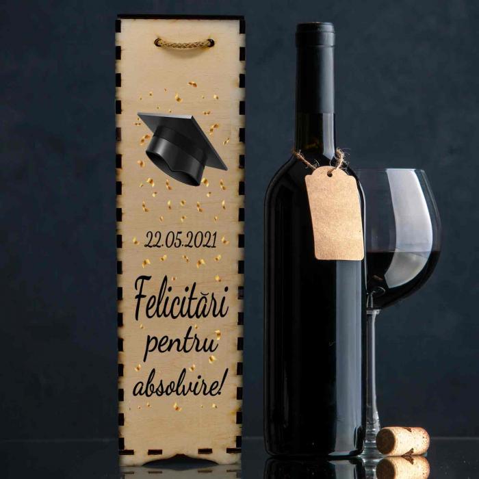 Cutie de vin personalizata cu model absolvire [0]
