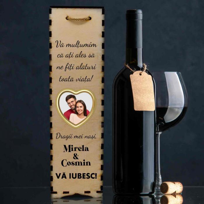 Cutie de vin personalizata cu model NASI cu o poza si text [0]