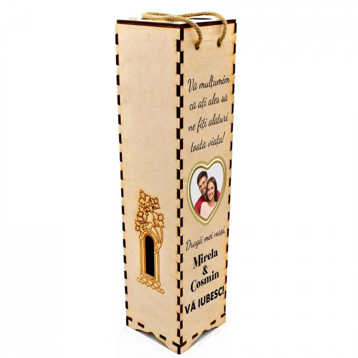 Cutie de vin personalizata cu model NASI cu o poza si text [3]