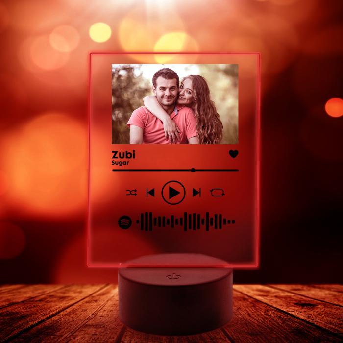 Lampa 3D luminoasa personalizata Spotify cu poza [8]