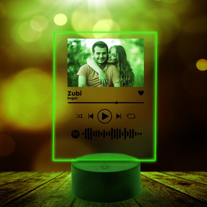 Lampa 3D luminoasa personalizata Spotify cu poza [6]