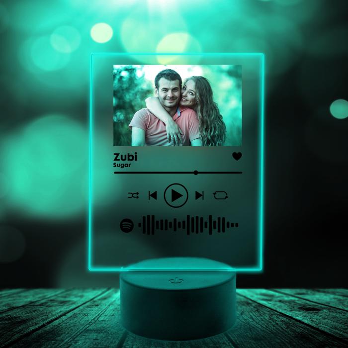 Lampa 3D luminoasa personalizata Spotify cu poza [5]