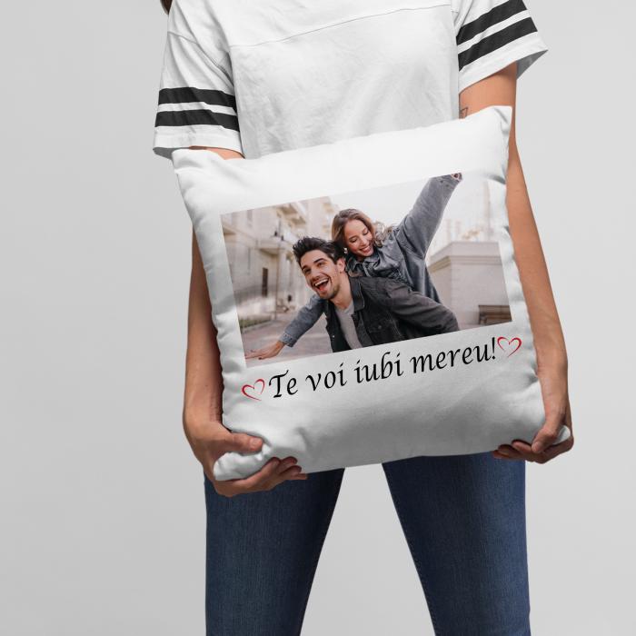 Perna personalizata cu o poza si text te voi iubi mereu [1]
