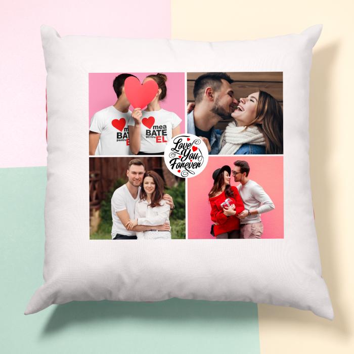 Perna personalizata cu patru poze si model love you forever [1]