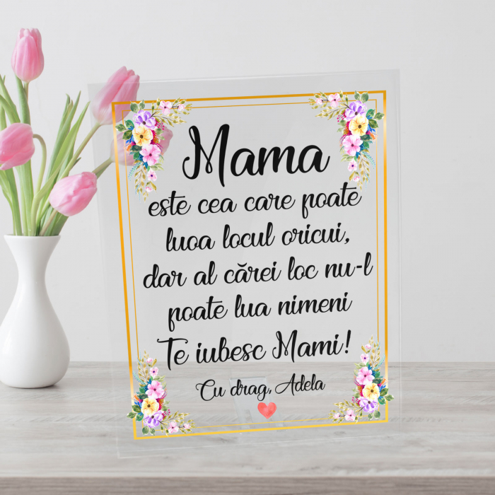Placheta personalizata text, nume pentru mama [0]