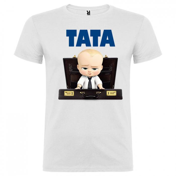 """Set 3 tricouri personalizate mama tata si copil cu nume si varsta """"Bebe Sef"""" [4]"""