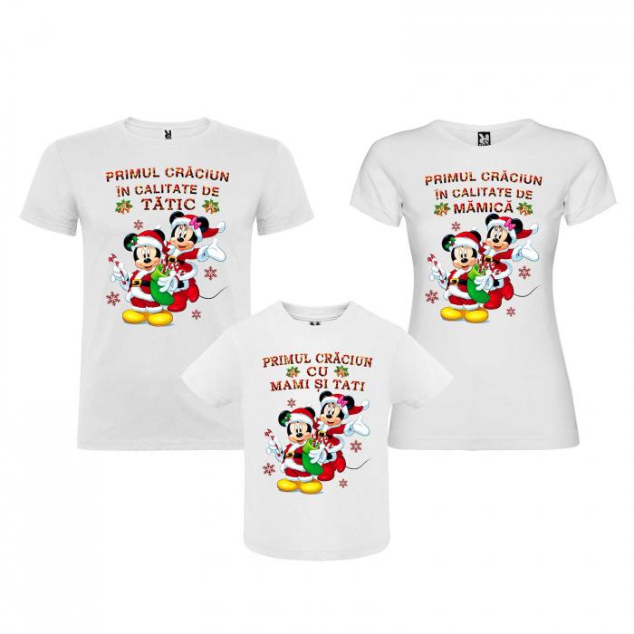 Set tricouri personalizate primul Craciun cu mami si tati [0]