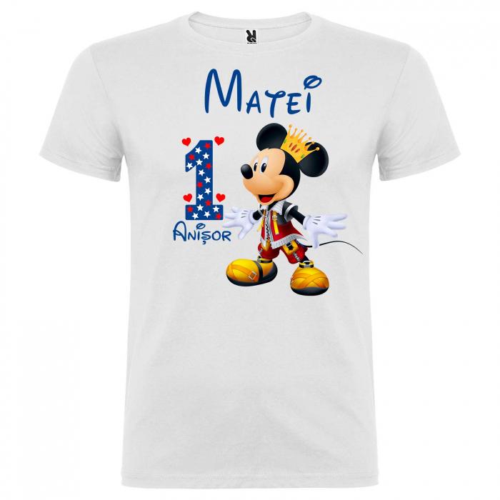 "Set 3 tricouri mama, tata si copil personalizate cu nume si varsta ""print Mickey"" [4]"