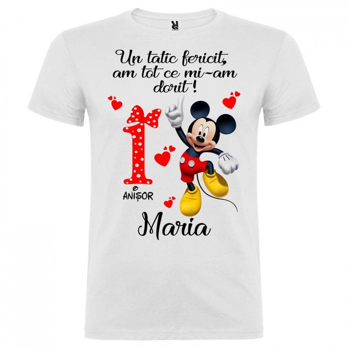 """Set de 5 tricouri personalizate pentru nasi parinti si copil fericirea si bucuria lor sunt eu """"Minnie"""" [5]"""