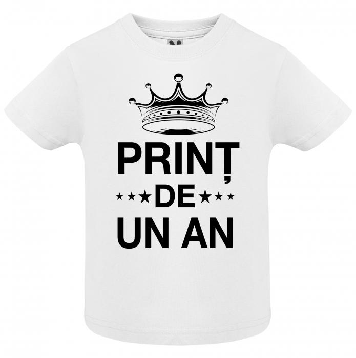 """Set de 4 tricouri aniversare pentru parinti surioara si copil """"Print de 1 anisor"""" [3]"""
