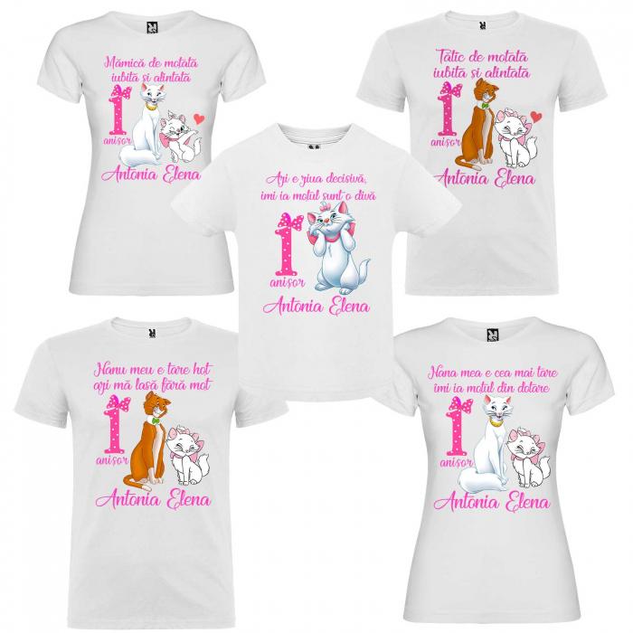 Set tricouri personalizate pisica Marie [0]
