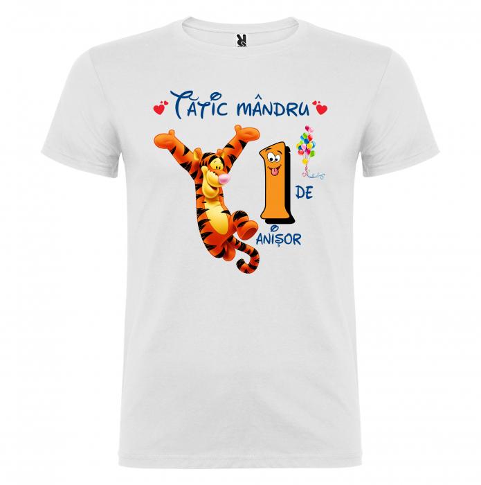 "Set de 5 tricouri aniversare pentru nasi,parinti si copil, personalizate cu nume,varsta si mesaj""Bestiuta"" [2]"