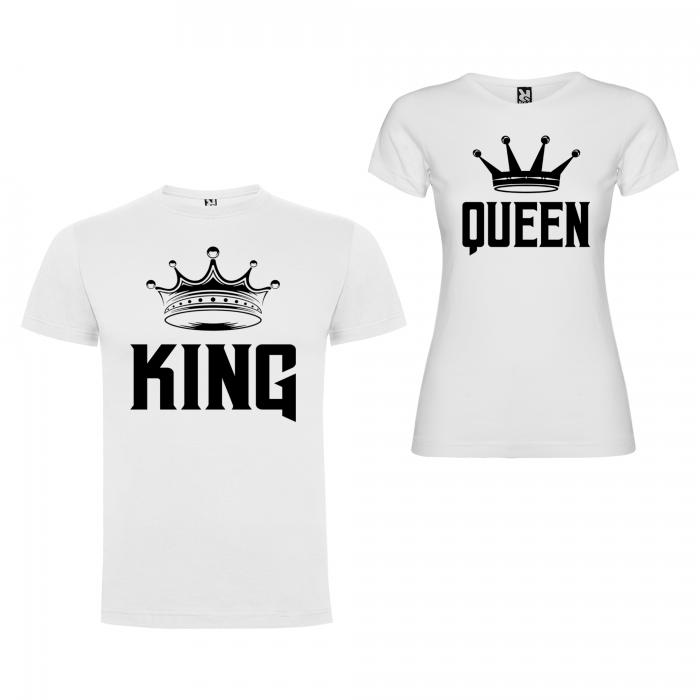 Set Tricouri Cuplu King ,Queen Coroana [2]