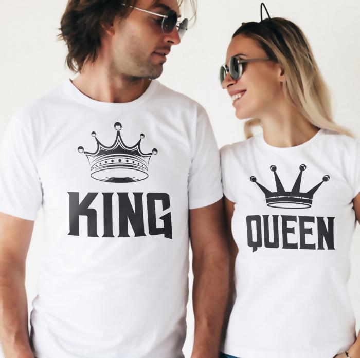 Set Tricouri Cuplu King ,Queen Coroana [1]