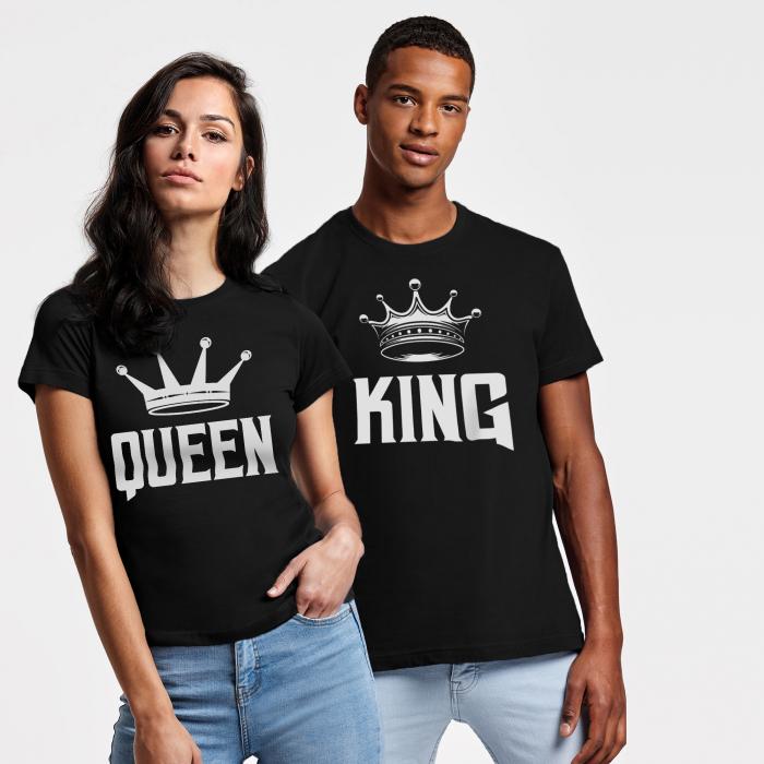 Set Tricouri Cuplu King ,Queen Coroana [0]