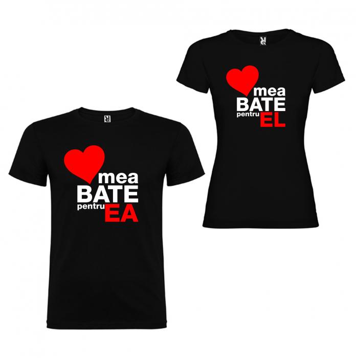 Set tricouri de cuplu  Inima mea Bate pentru el, inima mea Bate pentru ea [1]