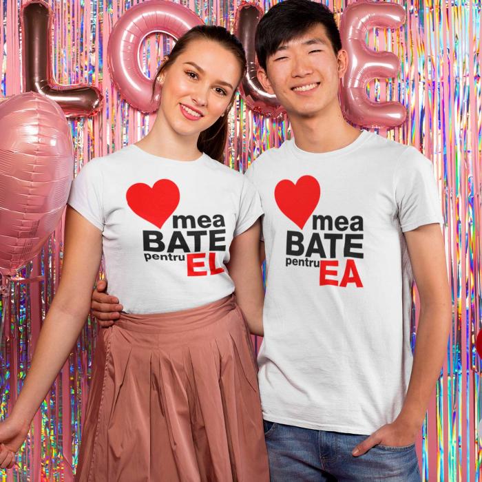 Set tricouri de cuplu  Inima mea Bate pentru el, inima mea Bate pentru ea [0]