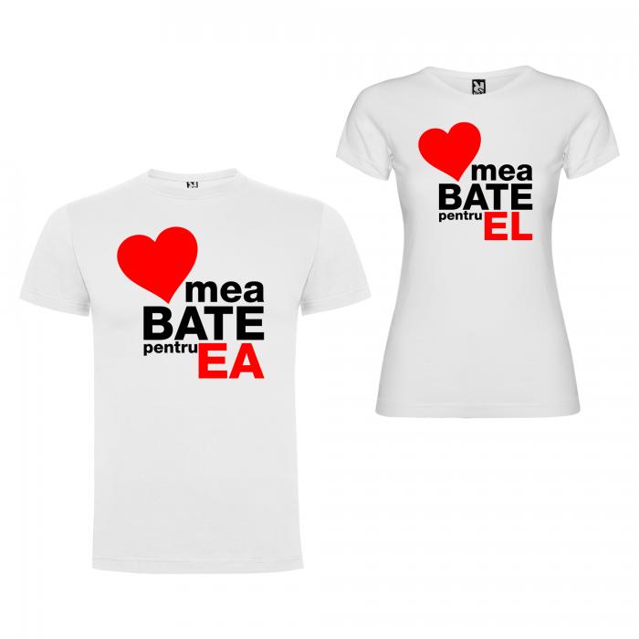 Set tricouri de cuplu  Inima mea Bate pentru el, inima mea Bate pentru ea [2]