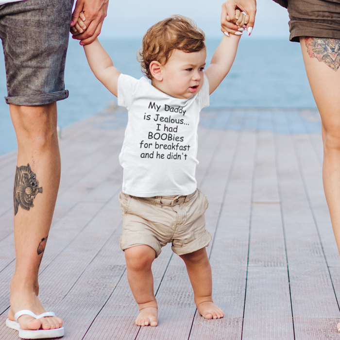 Tricou de copii My daddy is jealous... [0]