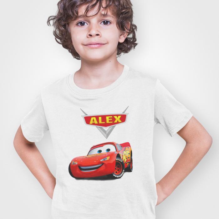 Tricou de copii personalizat cu nume McQueen [0]