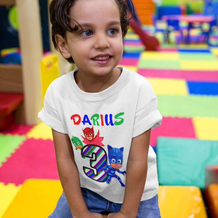 Tricou  de copii personalizat Eroi in Pijama [0]