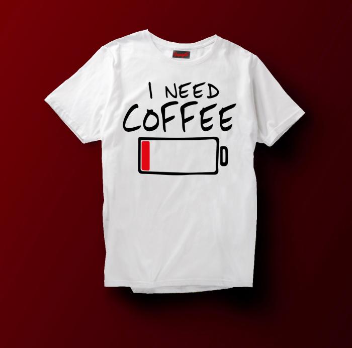 Tricou  I Need Coffee [2]