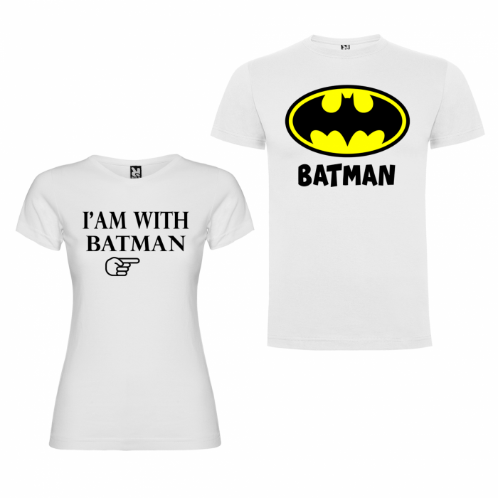 Tricouri personalizate pentru cupluri I am with Batman [1]