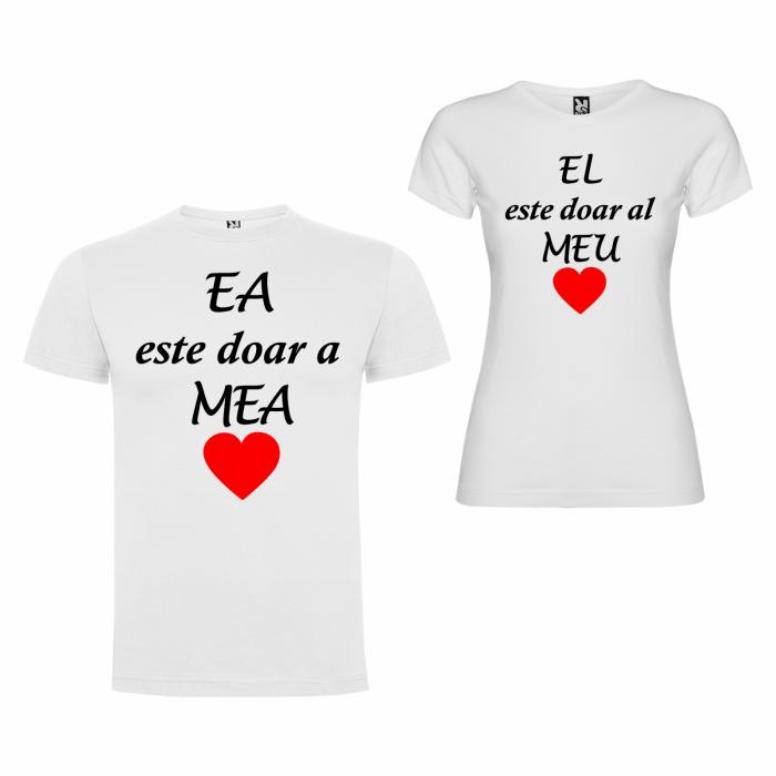 Tricouri personalizate pentru cupluri Ea Este doar a Mea si El doar al Meu [2]