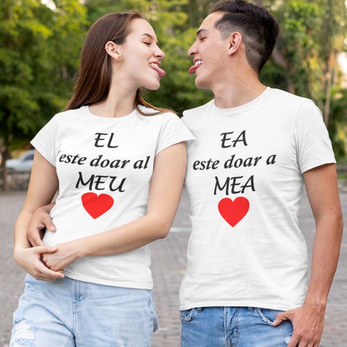 Tricouri personalizate pentru cupluri Ea Este doar a Mea si El doar al Meu [1]