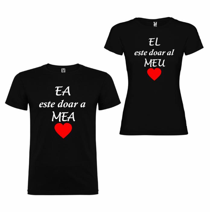Tricouri personalizate pentru cupluri Ea Este doar a Mea si El doar al Meu [3]