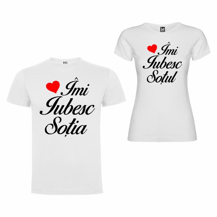 Tricouri personalizate pentru cupluri Imi iubesc Sotul/Sotia [2]