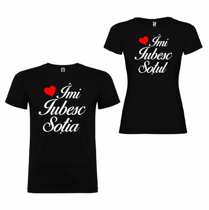 Tricouri personalizate pentru cupluri Imi iubesc Sotul/Sotia [1]
