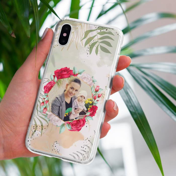 Husa Personalizata cu o poza si model floral [0]
