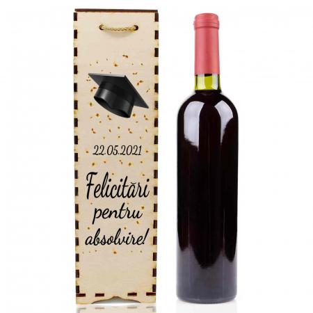 Cutie de vin personalizata cu model absolvire [1]