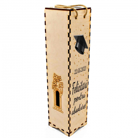 Cutie de vin personalizata cu model absolvire [2]