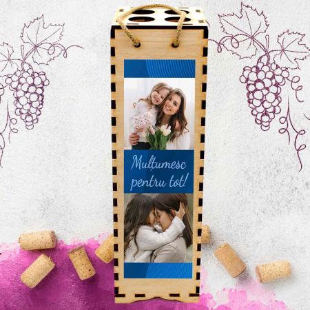 Cutie de vin personalizata cu model si 2 poze [1]
