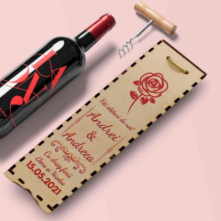 Cutie de vin personalizata cu model si text [1]